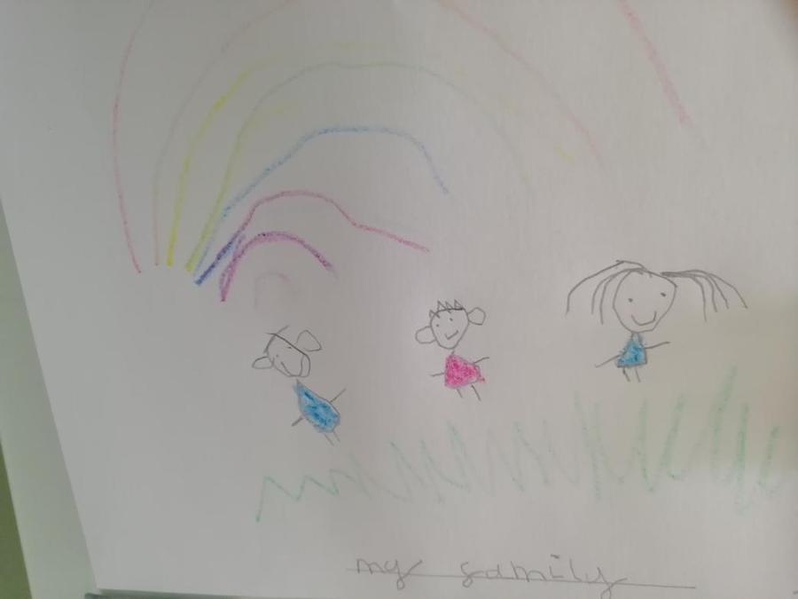 Frankie's lovely rainbow.