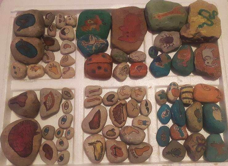 What an artist. Love these  stones Irenka,