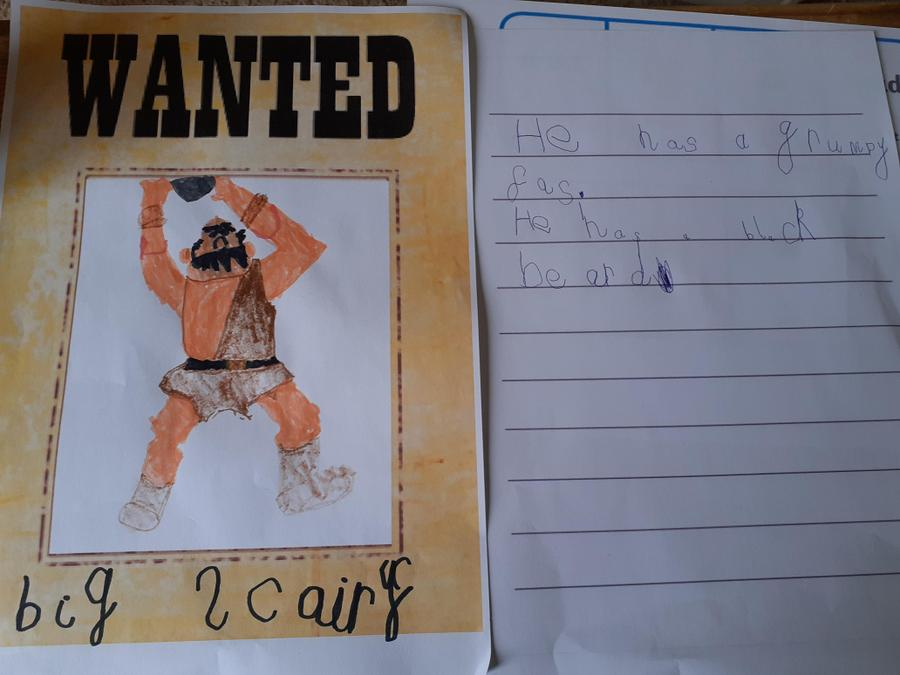 Big and scary - Great adjectives Ellie!
