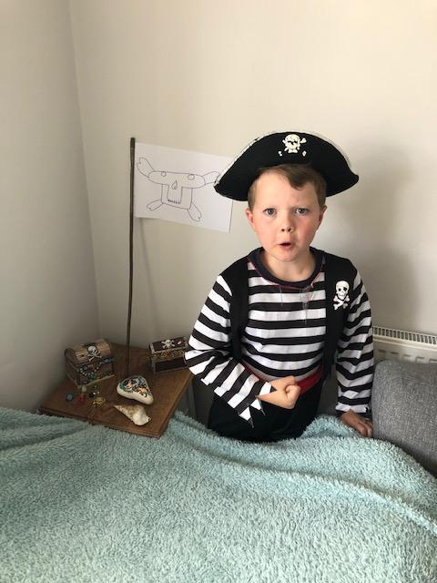 Shiver me timbers! It's a pirate!