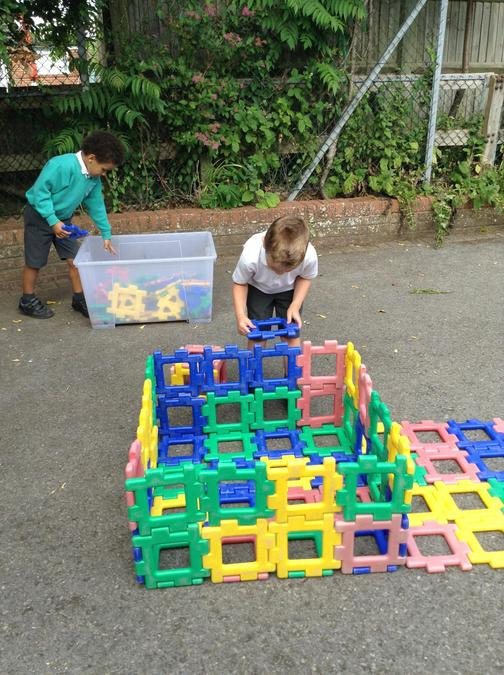 Constructing a house for the 3 pigs!