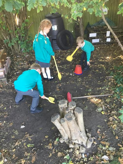 Getting stuck in with lots of play outside!