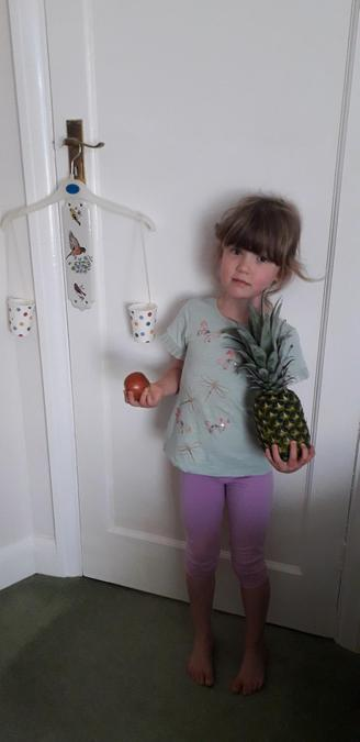 I think the pineapple looks rather heavy!