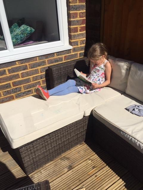 Can't beat a sunny reading spot. Brilliant Isla.