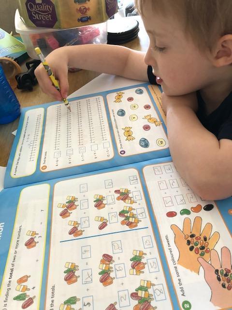 Addition fun - amazing maths Benji!