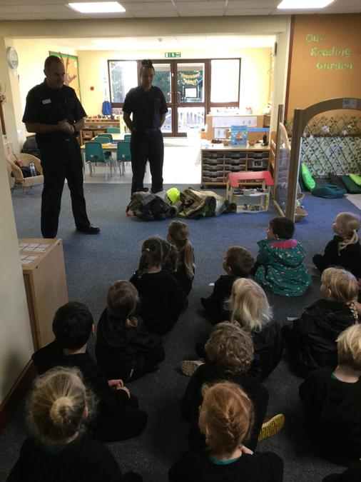 We were amazing listeners when the firefighters came to visit this week!