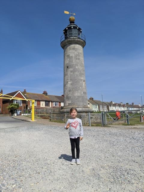 I see a lighthouse behind you Charlotte!