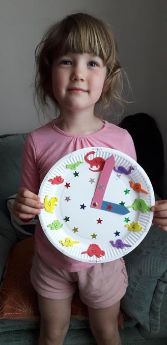 I love your dinosaur themed clock Lily!