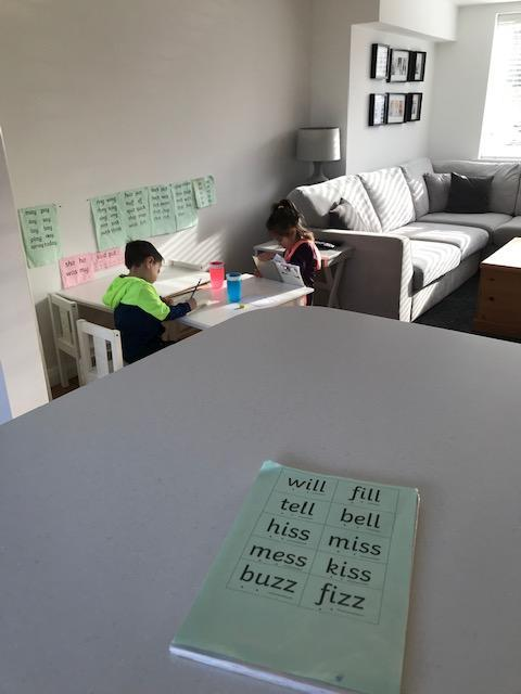 Practicing those green words!