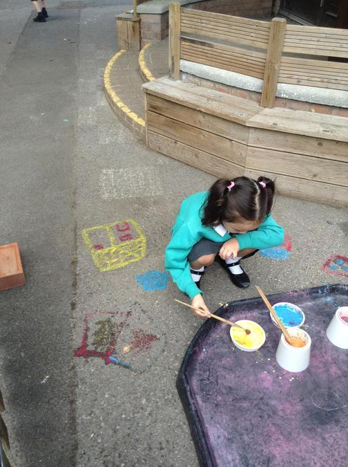 Enjoying time outside to paint!