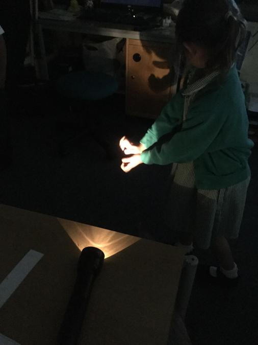 Shadow hand puppets!