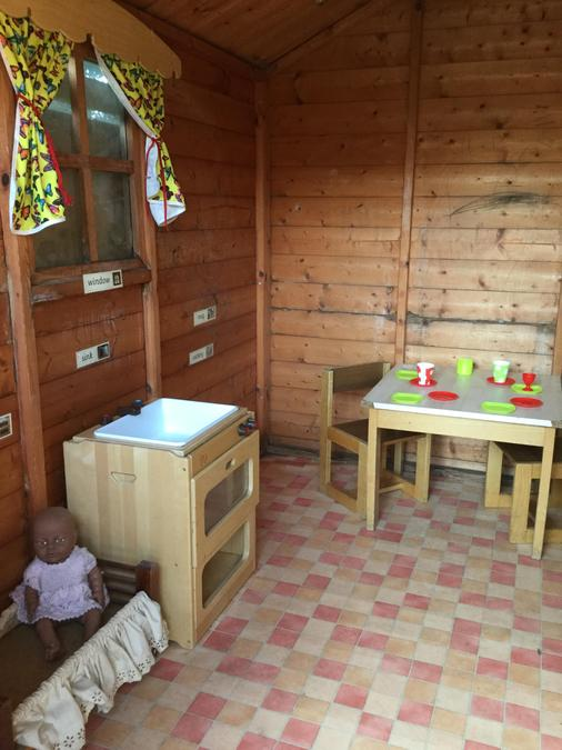 The outside play house