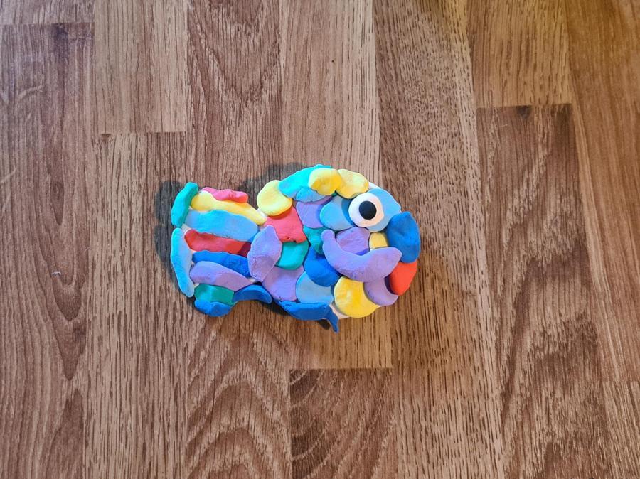 Amaia's beautiful rainbow fish.