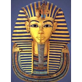 a death mask resembling the Pharoah was placed on the body.