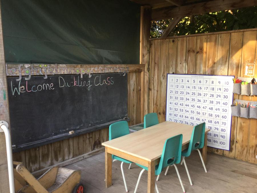 Our outside classroom - known as 'The Barn'