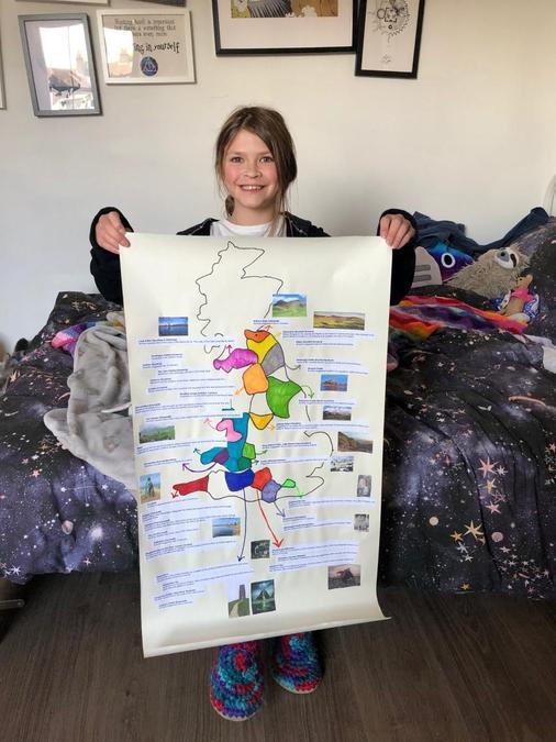 Esme's King Arthur project - amazing!