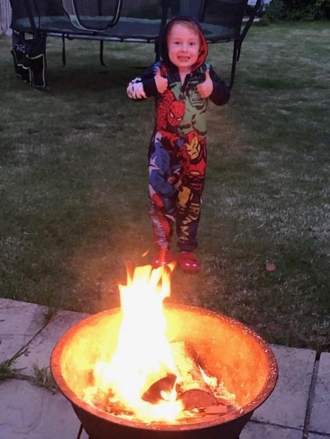 Look at that fire! Looks like great fun Benji!