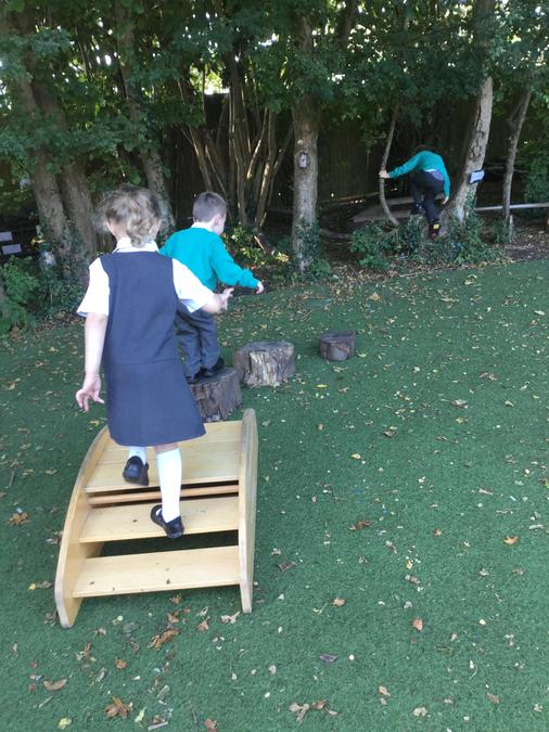 Exploring the outdoor learning environment!