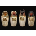 The liver, intestines, stomach and  lungs were removed and put in Canopic jars.