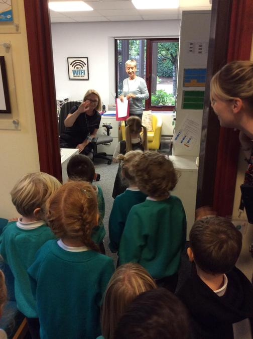We enjoyed saying hello to lots of lovely people during our walk around the school!