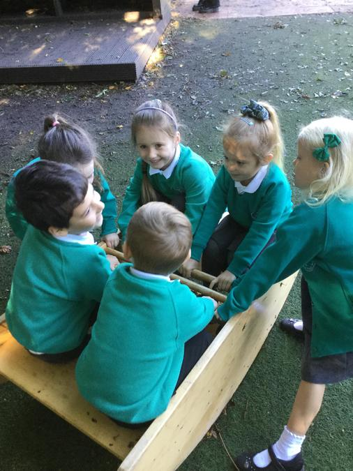 Lots of fun together with the seesaw!