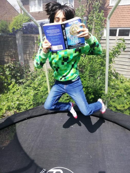 Rather jealous of Logan's reading set up!