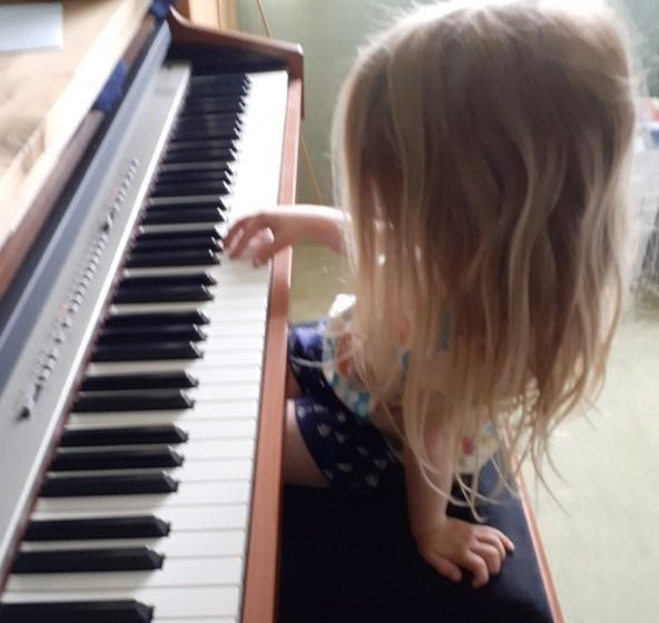 Learning to play an instrument, wonderful Ellie!