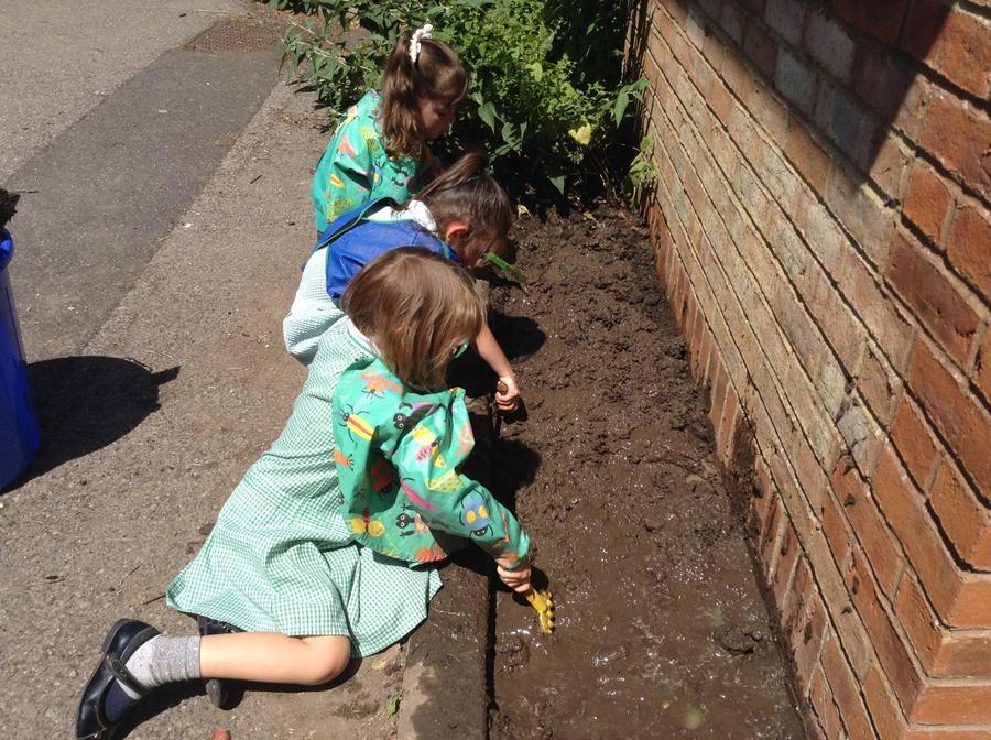 Gardening together in the glorious sunshine!