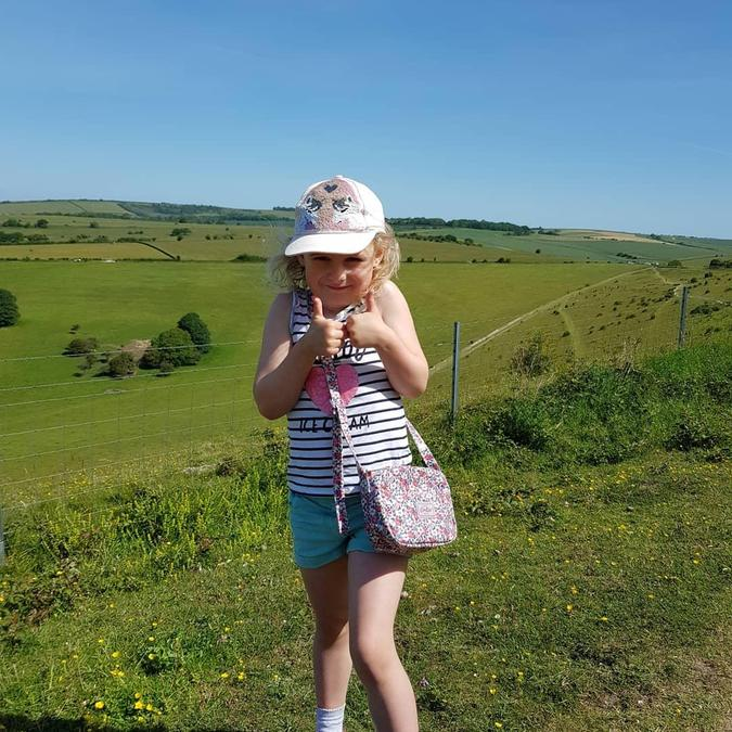 Lovely to see you enjoying the great outdoors Evie