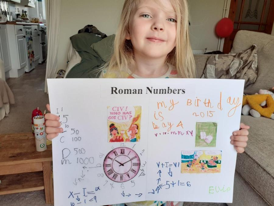 If you have a question on Roman numerals,ask Ellie