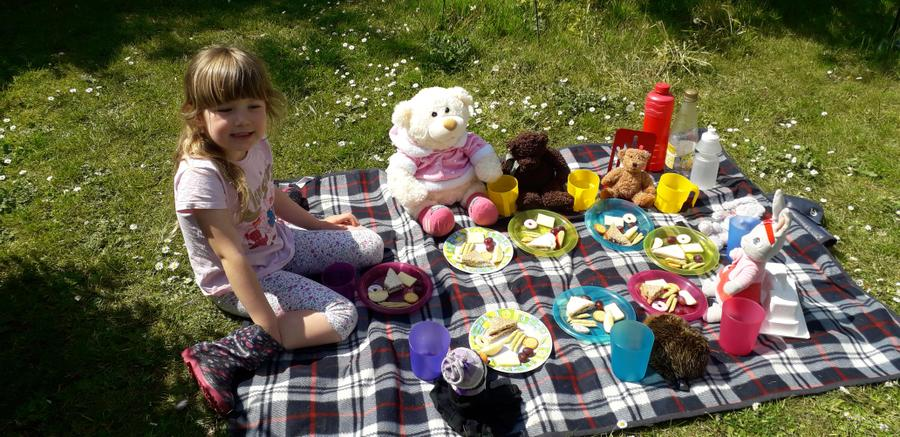 A beautiful day for a teddy bears picnic Lily!