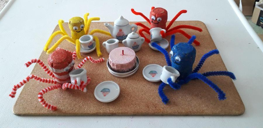 An octopus tea party, lots of legs there!