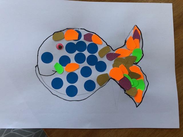 Barney's creative rainbow fish!