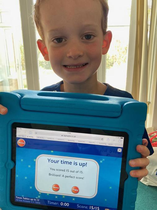 Great maths score Theo.