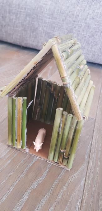 A house made from bamboo, it looks strong Ava!