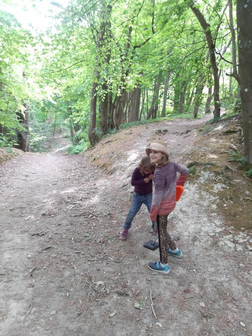 Metal detecting on a Roman road, great fun Freya!