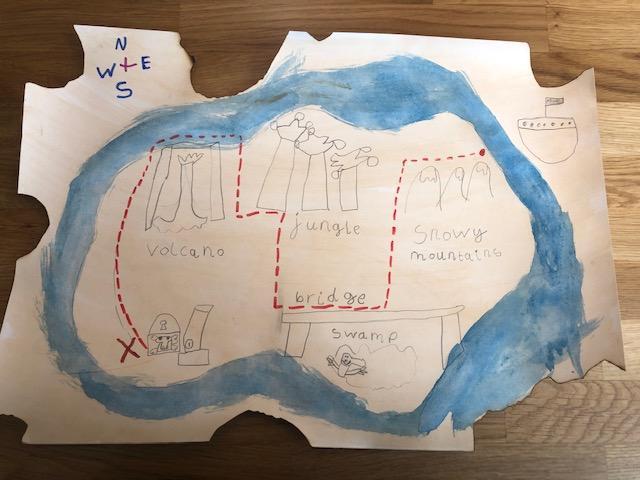 Terrific treasure map, Barney!