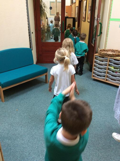 Learning how to walk quietly through the school - There's so much to explore at Bramber!