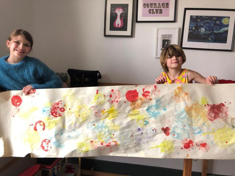 Brilliant, beautiful, BIG and bold bubble painting