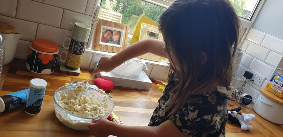 Making playdough looks like great fun Ava!