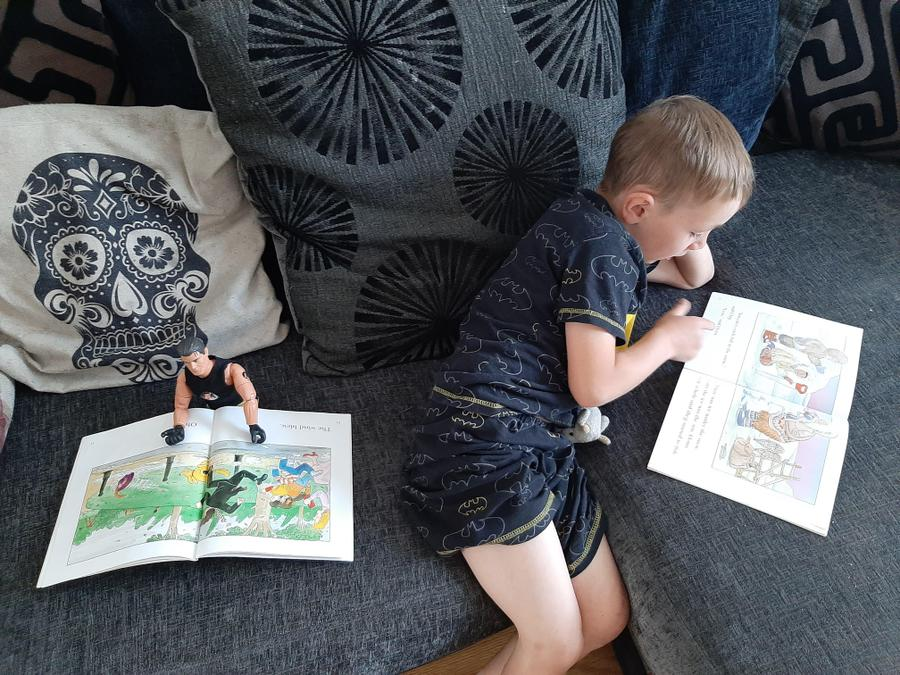 Action man likes reading too!