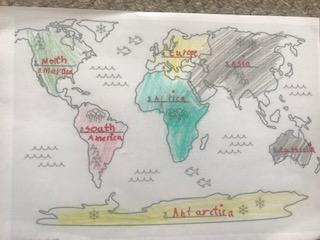 Excellent continent labelling Isla