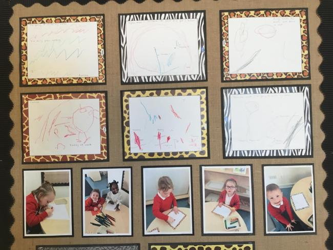 Our Writing Area display