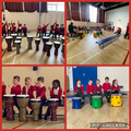 The children enjoyed learning about African drumming.