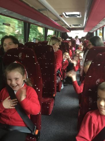 We are so excited to be going on the coach!