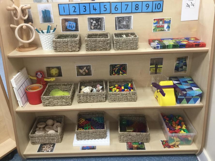 Our Maths Area Shelves