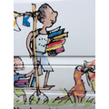 Quentin Blake's beautiful illustrations on the bus