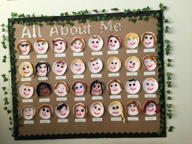 Our paper plate portraits display