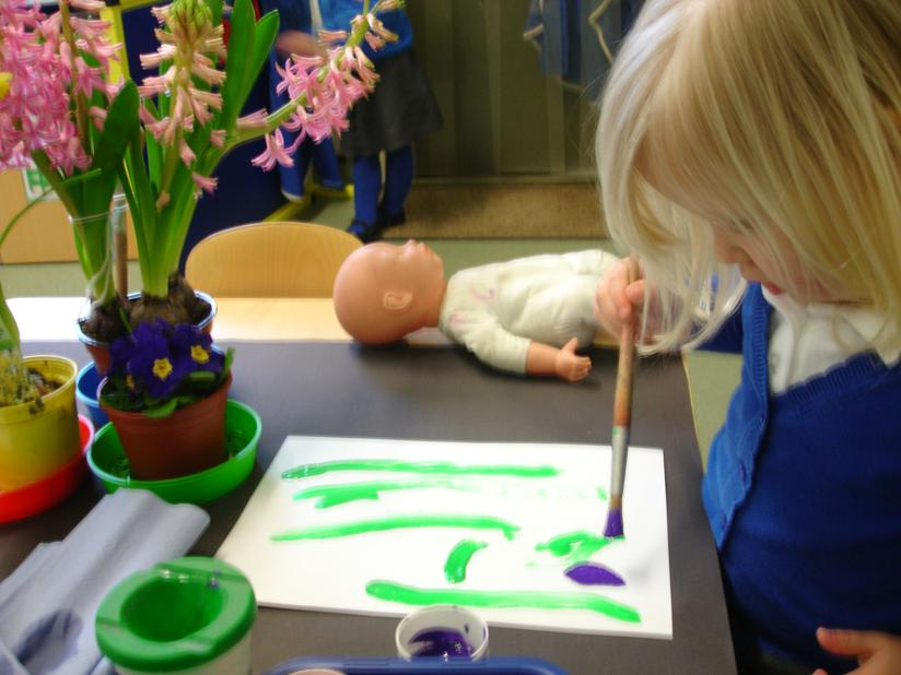 Our spring flower paintings