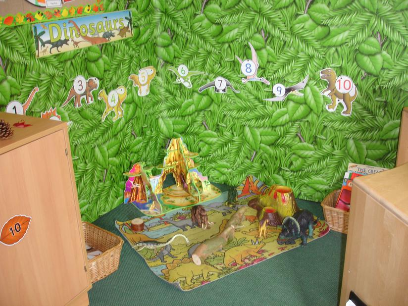 our dinosaur role play corner